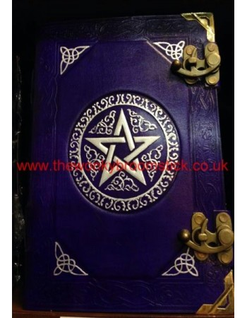 Purple & Silver Pentacle Book of Shadows